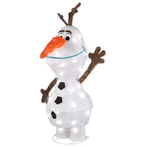 disney 3d holiday lighted tinsel sculpture olaf 28 quot