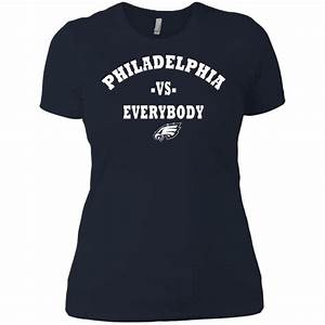 Wolf Vs Dog Size Chart Philadelphia Eagles Vs Everybody Women 39 S T Shirt