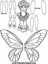 Fairy Paper Puppet Dolls Crafts Coloring Pheemcfaddell Puppets Cut Colouring Doll Template Printable Templates Articulated Fairies Fox Ravan Nature Toys sketch template