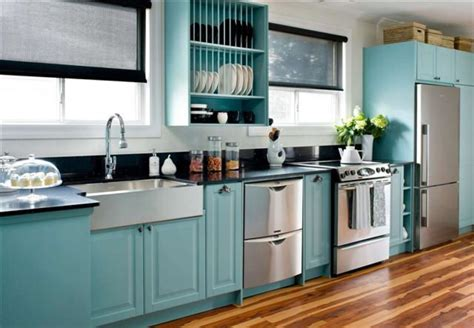 kitchen cupboards  custom paint  real teal appeal