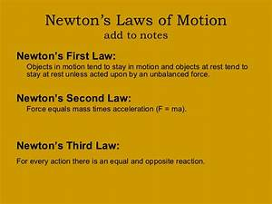 Examples Of Newton's Second Law In Real Life