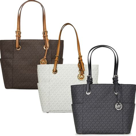 michael kors jet set travel monogram logo tote choose
