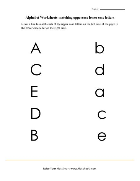 Alphabet Matching Worksheets Free Worksheets Library  Download And Print Worksheets  Free On