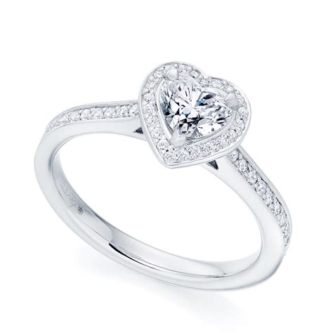 platinum shaped halo cluster ring from berry s jewellers