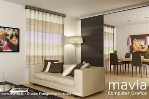 interni 3drendering tende e tendaggi soggiorno sala da pranzo moderno tende home decor With tende per interni soggiorno moderno