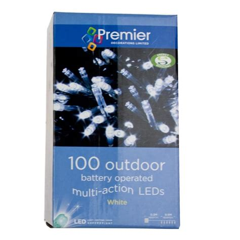 premier 9 9m length of 100 outdoor white battery operated