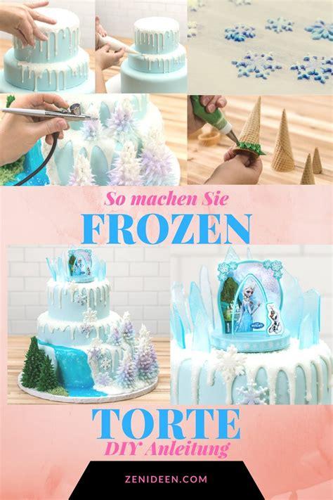 Juli preise gelten für gewerbekunden und verstehen sich. Motivtorten selber machen: Frozen Torte Anleitung - DIY ...