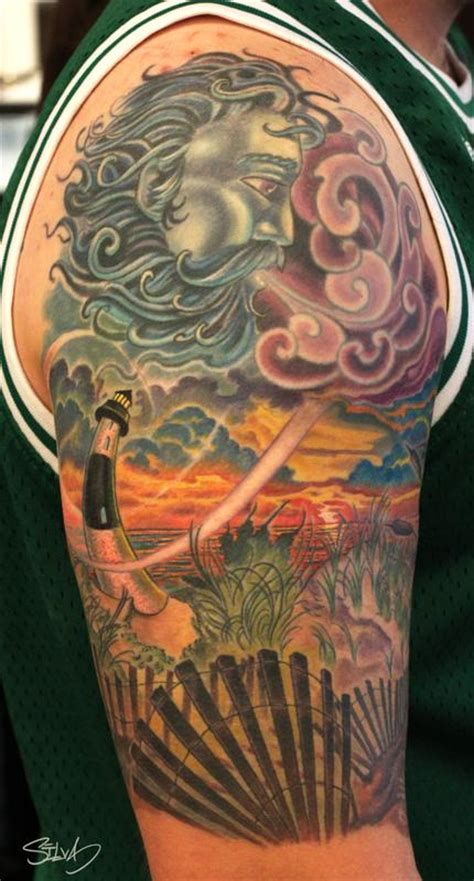 custom long island lighthouse tattoo  marvin silva tattoos