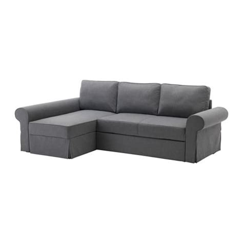 backabro sofa bed  chaise longue nordvalla dark grey