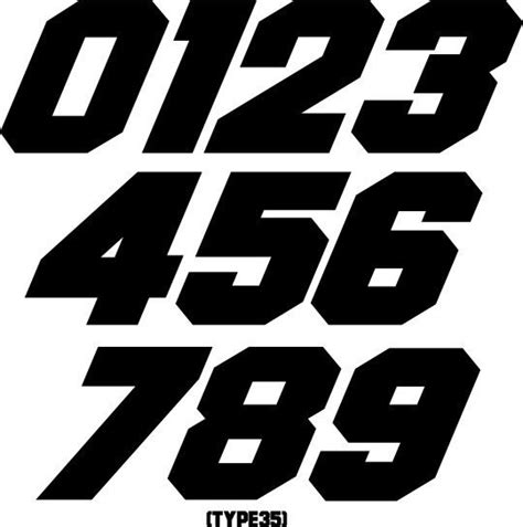 Custom Mx Number Plate Decals Motocross Stickers