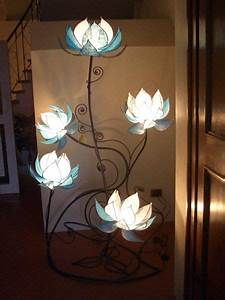 5 lotus flowers all things aglow pinterest With 7 light flower floor lamp