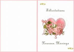 Carte De Voeux à Imprimer Gratuite : carte de voeux pour mariage gratuite a imprimer cjn2roues ~ Nature-et-papiers.com Idées de Décoration
