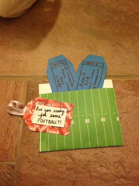 football ticket holder diy gifts pinterest football