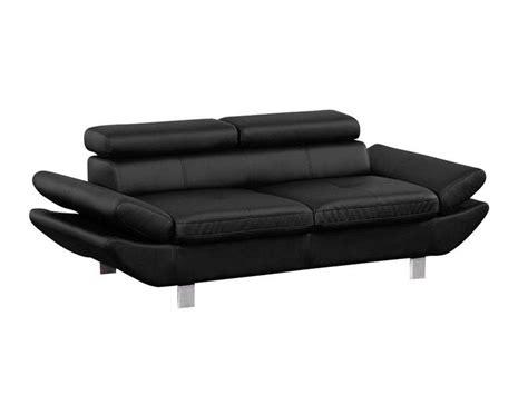 conforama canap 3 places canapé fixe 3 places loft coloris noir en pu vente de