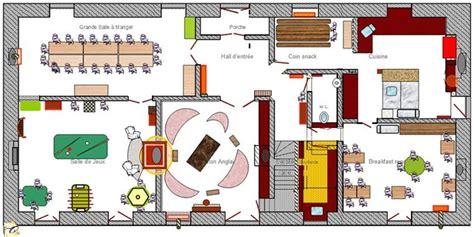 plan maison à étage 3 chambres manoir de plainartige gite de groupe grand format