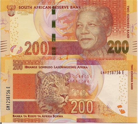 south africa 200 rand banknote world currency money bill
