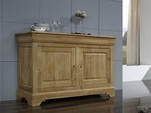 Buffet En Chene : buffet bas 2 portes vincent en ch ne massif de style louis philippe largeur 160 cm meuble en ~ Teatrodelosmanantiales.com Idées de Décoration