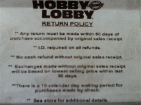 return policy back of receipt yelp