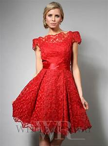 Red Lace Cocktail Dress - Iris Gown