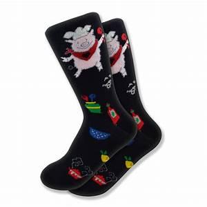 Women's Pig Chef Socks in Black