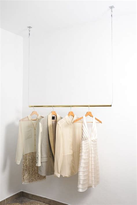 Wardrobe For Hanging Clothes by Brass Hanging Rail Storage Bedroom Porte Manteau In