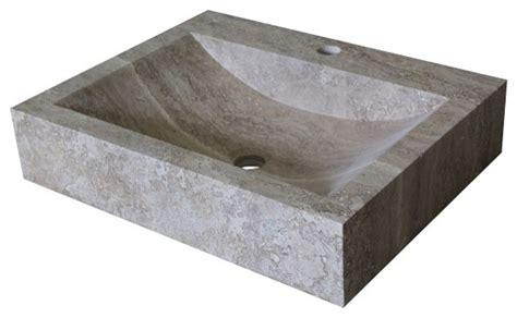 rectangular stone vessel sink rectangular natural stone vessel sink noce travertine
