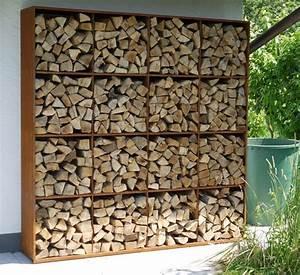 Brennholz Aufbewahrung Aussen : corten steel rack to store fire wood kamin pinterest ~ Michelbontemps.com Haus und Dekorationen