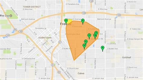 customers experience large power outage  southest fresno