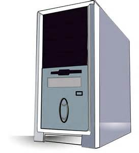 Desktop Computer Tower Clip Art