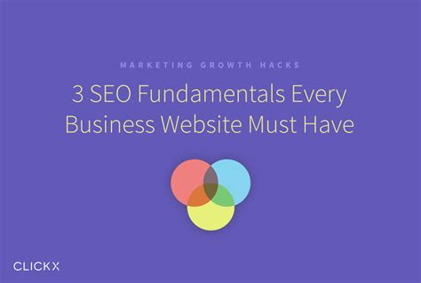 Seo Fundamentals by 3 Seo Fundamentals Every Business Website Must Clickx