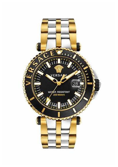Watches Versace Gold Diver Tone Race Chrono