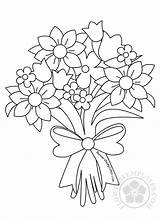 Bouquet Flower Drawing Coloring Flowers Roses Pages Templates Drawings Sheets Flowerstemplates sketch template