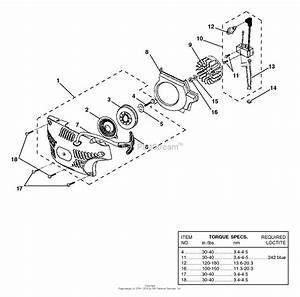 Homelite 33cc 16 U0026quot  Chain Saw Ut-10947-d Parts Diagram For Starter