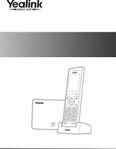 Yealink W56h Ip Dect Phone User Manual