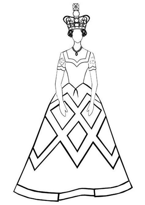 queens emlem   colouring pages