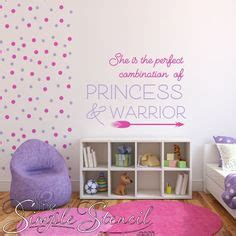 girls room wall quotes pretty simple stencil