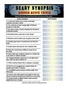 Scary Synopsis Horror Movie Trivia