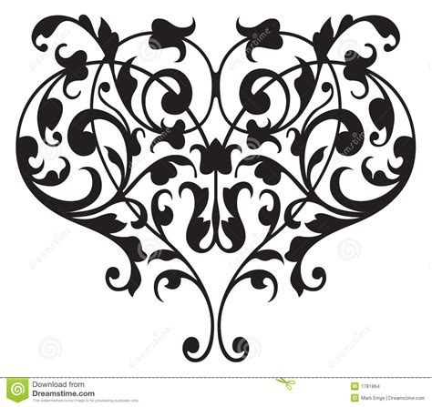 floral renaissance detail vector stock images image
