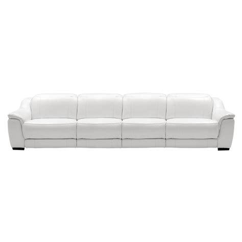 davis white oversized leather sofa el dorado furniture