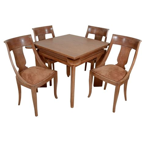 game table sets with chairs cerused oak games table and chairs at 1stdibs