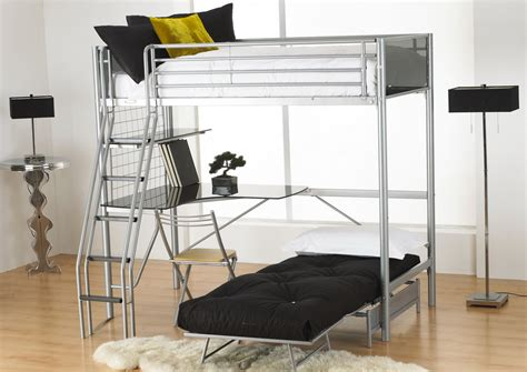 bunk bed with futon and desk bed with desk and futon