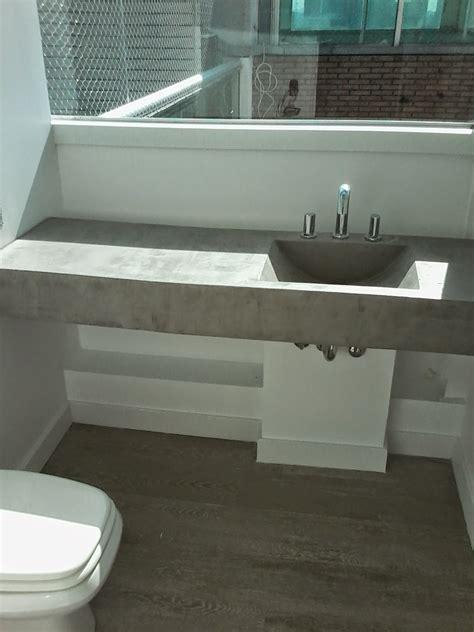 muebles en cemento light estilo ribera mesada  bacha
