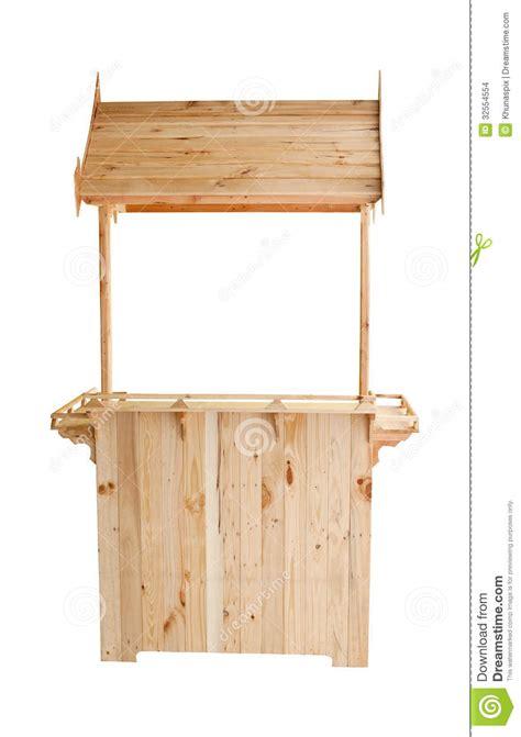 Wood Kiosk Isolated White Background Stock Images   Image: 32554554