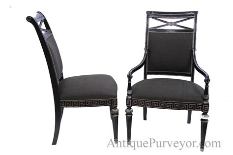 black and silver designer upholstered dining room chairs
