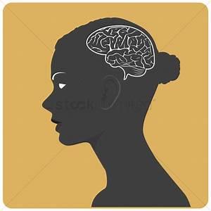 brain silhouette logo shape. brain clipart silhouette ...