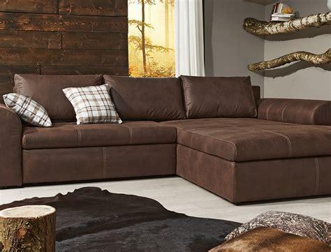 Wohnlandschaft 290x213 Sofa braun Couch Polsterecke
