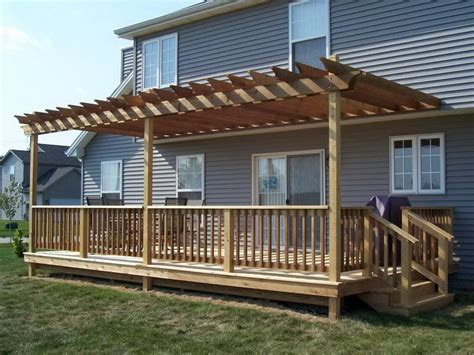 Freestanding Deck Plans Free by Amazing Free Standing Pergola On Deck Garden Landscape