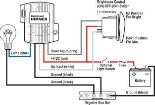 Auto Dimmer Switch Wiring Diagram by Deckhand Dimmer 24v Dc 12a Blue Sea Systems