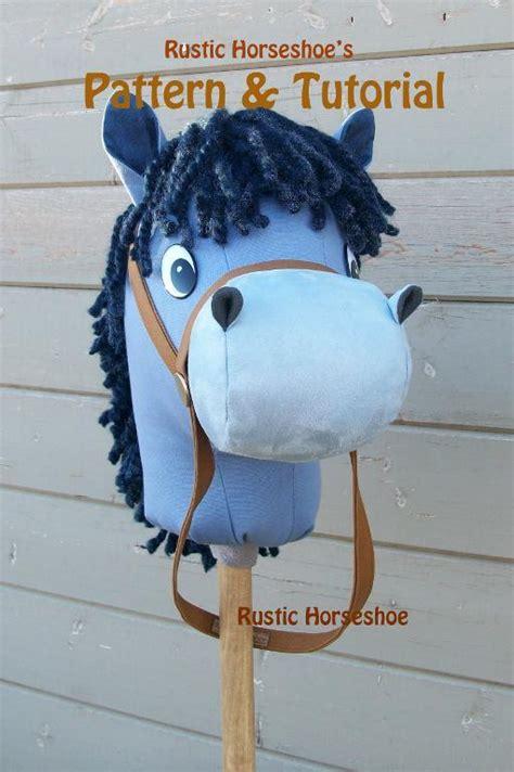 cartoon stick horse hobby horse plush  rustichorseshoe