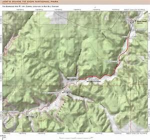 Zion park map